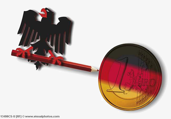 Federal_eagle_holding_red_pencil_with_german_flag_13498CS-U1